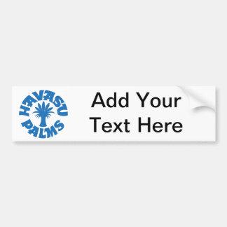 Havasu Palms Logo, Turquoise Blue Car Bumper Sticker