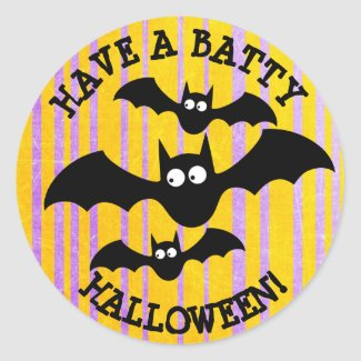 Have a Batty Halloween Stickers