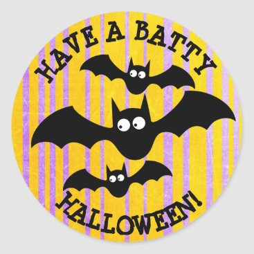 Halloween Themed Have a Batty Halloween Stickers