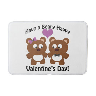 Have a Beary Happy Valentine's Day! Bathroom Mat