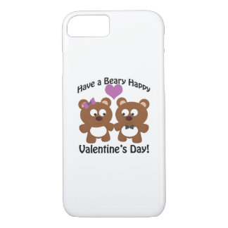 Have a Beary Happy Valentine's Day! iPhone 8/7 Case