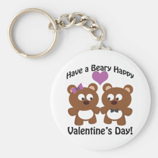 Have a Beary Happy Valentine's Day! Keychain