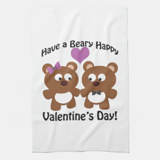 Have a Beary Happy Valentine's Day! Kitchen Towel