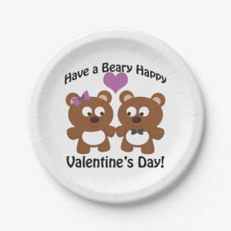 Have a Beary Happy Valentine's Day! Paper Plate