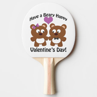 Have a Beary Happy Valentine's Day! Ping-Pong Paddle