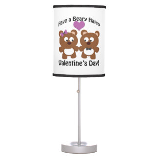Have a Beary Happy Valentine's Day! Table Lamp