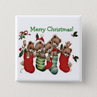 Have A Beary Merry Christmas! - Designer Button