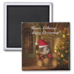 Have A Beary Merry Christmas Magnet 2 Inch Square Magnet