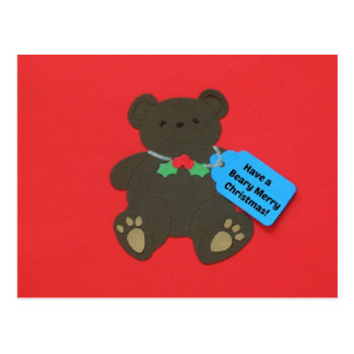 Have a Beary Merry Christmas! Postcard