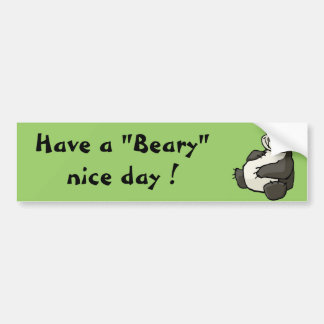 Have a beary nice day car bumper sticker