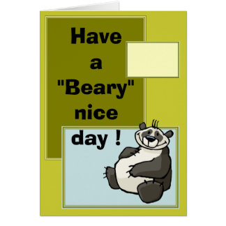 Have a beary nice day card