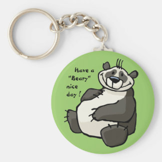 Have a  beary nice day key chain