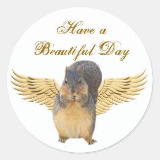 Have a Beautiful Day_Sticker Classic Round Sticker