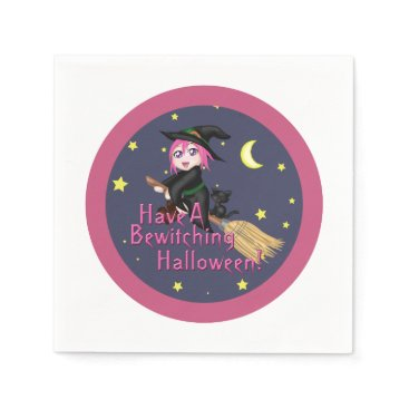 Halloween Themed Have a Bewitching Halloween! Paper Napkin