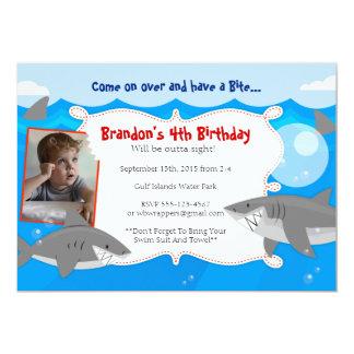 HAVE A BITE - Shark Themed Birthday Invitations