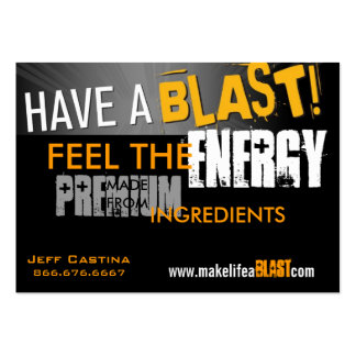 have a blast banner, ENERGY, FEEL THE, PREMIUM,... Large Business Card