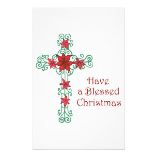 HAVE A BLESSED CHRISTMAS STATIONERY PAPER