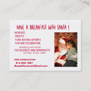 Mrs santa claus business cards templates zazzle have a breakfast with santa business card colourmoves