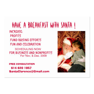 Have A Breakfast with Santa Business Card