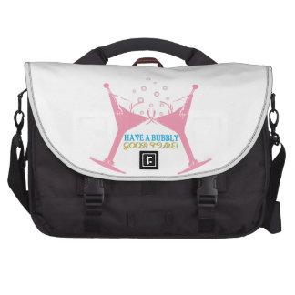 Have A Bubbly Good Time Laptop Messenger Bag
