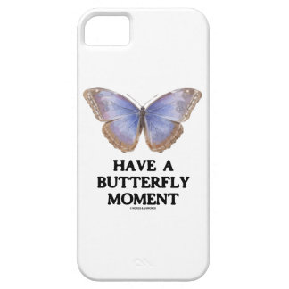 Have A Butterfly Moment (Morpho helenor) iPhone SE/5/5s Case