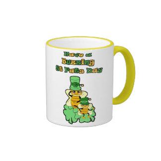 Have a buzzing St Pats Day Ringer Mug