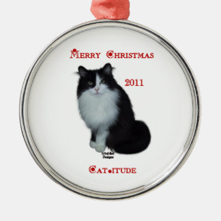 Have a Cat-itude Christmas 2011 Metal Ornament