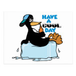 Have A Cool Day ~ Penguin On Ice Word Play Postcards