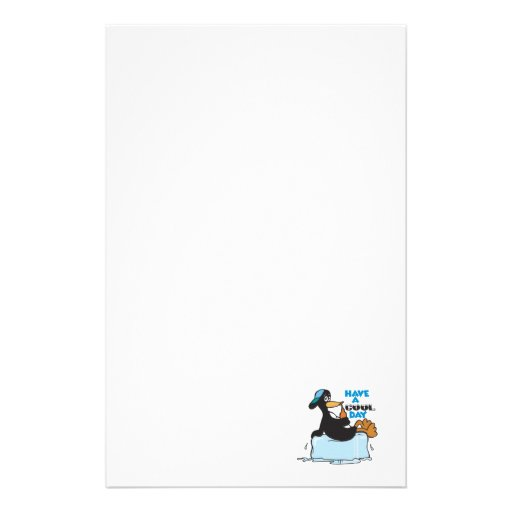 have a cool day penguin stationery paper