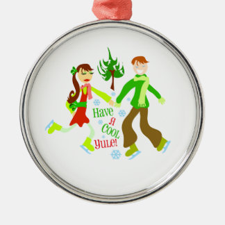 Have A Cool Yule deluxe Metal Ornament