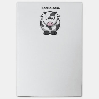 Have a Cow Dairy Holstein Cartoon Post-it® Notes
