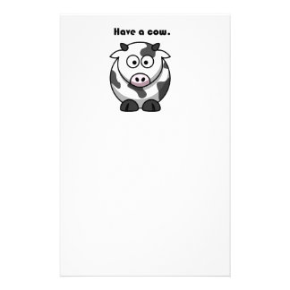 Have a Cow Dairy Holstein Cartoon Stationery