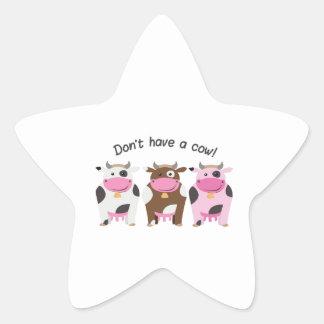 Have A Cow Star Sticker