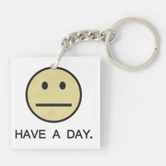 Have a Day Smiley Face Keychain