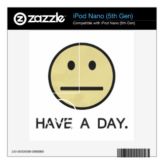 Have a Day Smiley Face Decals For iPod Nano 5G
