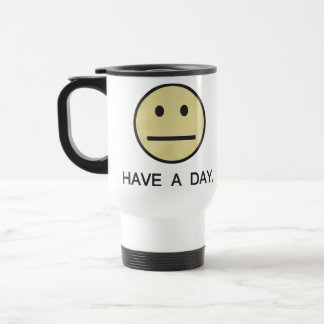 Have a Day Smiley Face Travel Mug
