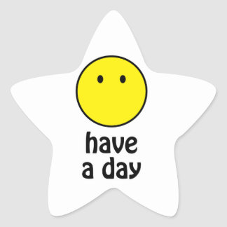 Have a Day! Star Sticker