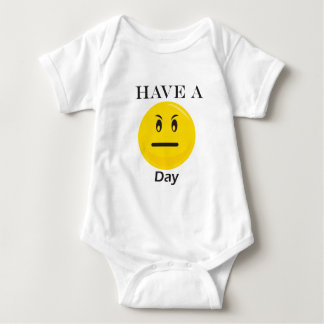 Have a day yellow smiley baby bodysuit
