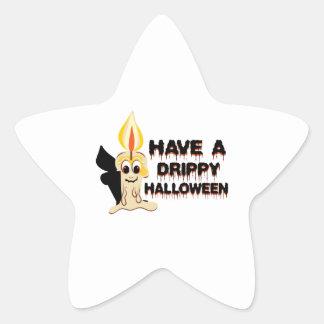 Have A Drippy Halloween Star Sticker