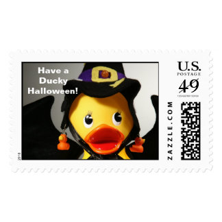 Have a Ducky Halloween! (Large, Horizontal) Postage Stamp