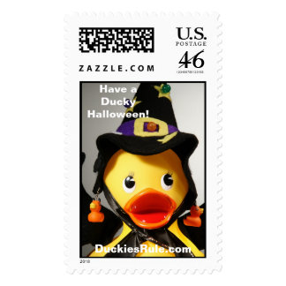 Have a Ducky Halloween! (Large, Vertical) Postage Stamp