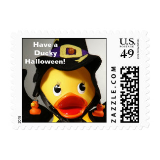 Have a Ducky Halloween! (Small, Horizontal) Stamps