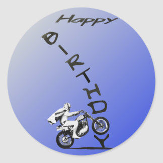 HAVE A EVEL BIRTHDAY. CLASSIC ROUND STICKER