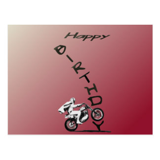 HAVE A EVEL BIRTHDAY. red. Postcard