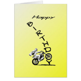 HAVE A EVEL BIRTHDAY. yellow. Card