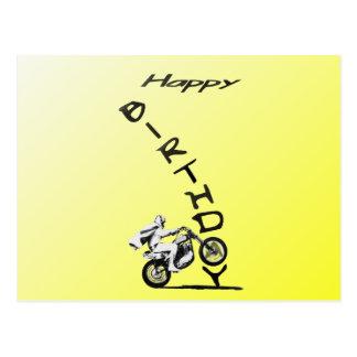 HAVE A EVEL BIRTHDAY. yellow. Postcard