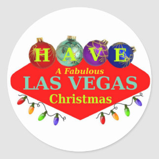 HAVE A Fabulous Las Vegas Christmas Sticker