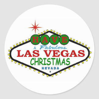 Have A Fabulous Las Vegas Merry Christmas Sticker