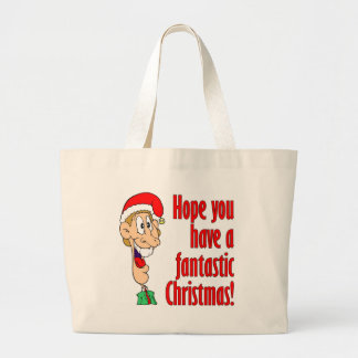 Have a fantastic, funny, merry Christmas. Nerd! Large Tote Bag