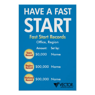 Have A Fast Start Poster